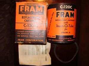 Vintage 1947 Nors Fram Cartridge Oil Filter C 120 C