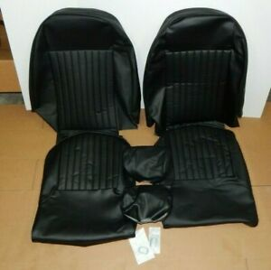 New Seat Cover Kit Seat Upholstery Set For Triumph Spitfire 1973 1980 Black