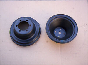 Mopar 340 318 Upper Lower Crankshaft Water Pump Pulleys W P S