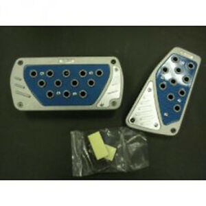 Universal Pedal Cover Blue Silver Automatic 2pcs Set