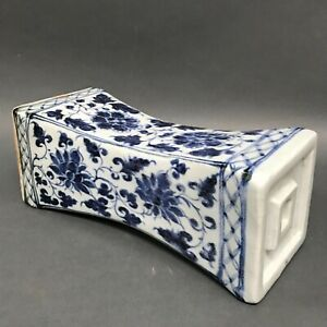 Chinese Porcelain Blue Nd White Pillow