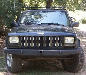 Jeep Cherokee Xj Front Bumper Non Winch With Tow Point 2 Receiving Hitch