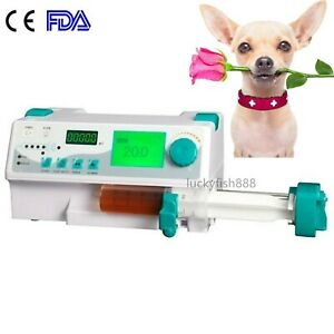Fda Injection Infusion Syringe Pump With Alarm Kvo drug Library For Animal Use