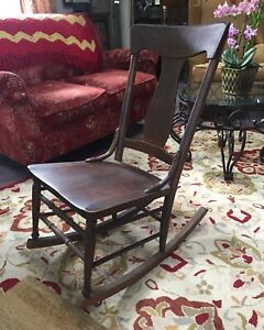 Antique Wooden Rocking Chair 100 Years Old