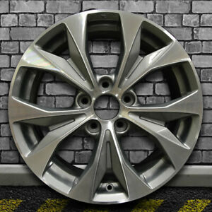 Machined Dark Charcoal Oem Factory Wheel For 2012 2013 Honda Civic 17x7