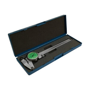 Green 4 Way Dial Caliper 6 Stainless Steel Shock Proof 0 001