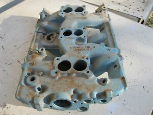 1961 Pontiac Tri Power Intake Manifold Date Code L80 Original Gm Dec 8 1960