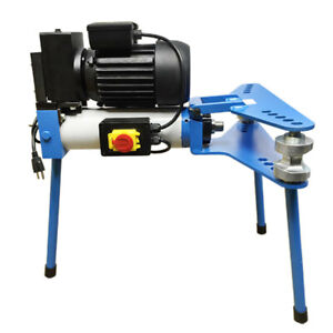 1 2 2 Electric 10 Ton Hydraulic Pipe Tube Bender Bending 110v Motor 6 Dies