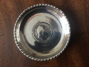 Antique Silver Coin Dish 1906