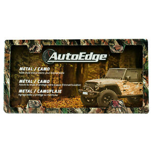 Autoedge Camo Metal License Plate Frame