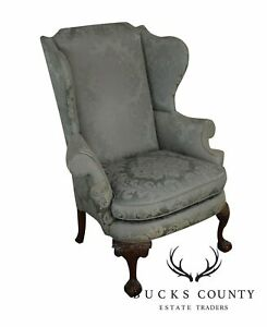 Southwood Chippendale Style Ball And Claw Wing Chair