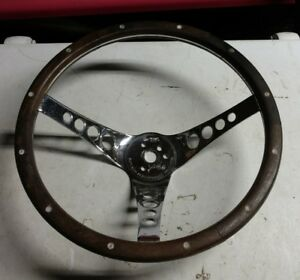 Vintage Superior 500 Gasser Wooden Steering Wheel 13 5 Inch