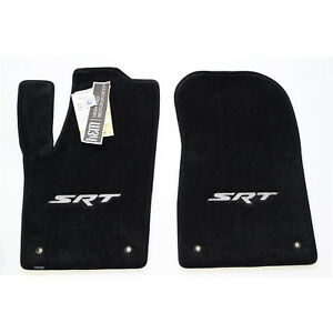 2014 2015 Jeep Grand Cherokee Srt Front Floor Mats Srt Embroidery Silver 2pc