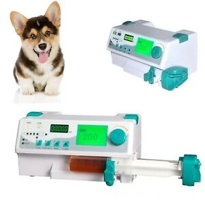 New Veterinary Vet Injection Infusion Syringe Pump With Alarm Kvo drug Library