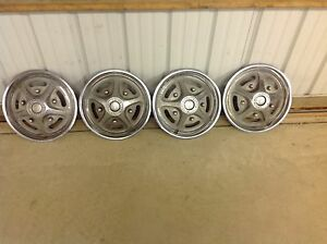 Vintage Ford Truck F 100 150 Hub Caps 15 Inch 4 Mag Style Oem 1973 1986