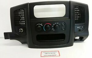 01 02 03 04 05 Dodge Ram Truck 1500 Center Dash Climate Control Trim Bezel