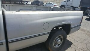 94 02 Dodge Ram 2500 3500 1500 8 Long Bed Box Silver With Tailgate