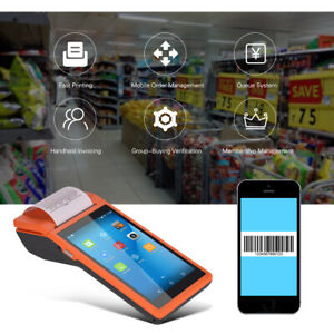 5 5 Inch Android Smart Pad Mobile Pos Terminal Bluetooth Receipt Printer 1p C1h4
