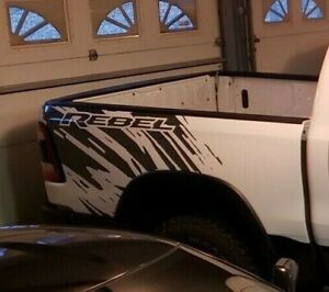 Dodge Ram Rebel Splash Grunge Logo Truck Vinyl Decal Bed Graphic Cast Reflective