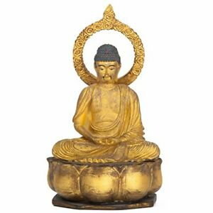 Toji Supervision Certified Amida Amitabha Miniature Buddha Statue From Japan