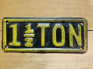 Vintage 1 1 2 Ton Truck Accessory License Plate Topper Gmc Ford Studebaker 1937