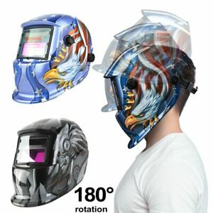 Lens Adjustable Tool Auto Darkening Robot Blue Eagle Solar Welding Helmet