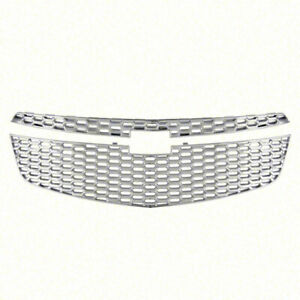 Chrome Grille Overlay For 2011 2012 Chevy Cruze
