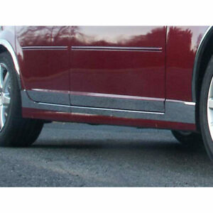 8p Stainless 4 L Rocker Trim Fits 2005 2007 Cadillac Cts v 4d By Luxury Fx