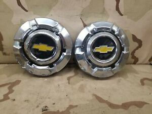 2 68 72 Chevrolet Chevy Pickup Truck Dog Dish Wheel Hub Caps Oem 1500 10 5