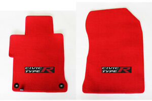 New Red Floor Mats 2001 2018 Honda Civic W Embroidered Logo 2pc Set Fronts