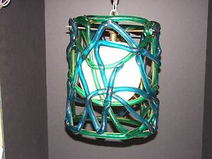 Vintage 1950 1960 S Mid Century Crazy Lucite Acrylic Hanging Lamp Light