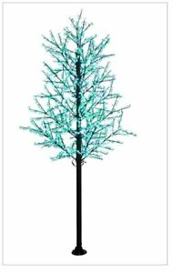 14FT Green Wht Cherry Blossom LED Indoor Outdoor Lighted Tree Commer $1,999.99