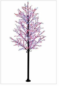 14FT Red White Cherry Blossom LED Indoor Outdoor Lighted Tree Commercial Quality $1,999.99