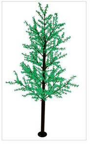 14FT All Green Cherry Blossom LED Indoor Outdoor Lighted Tree Commercial Quality $1,999.99