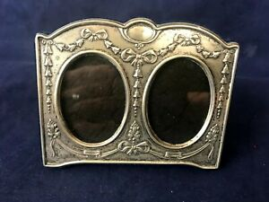 Vintage Jr 925 Sterling Silver Double Picture Frame