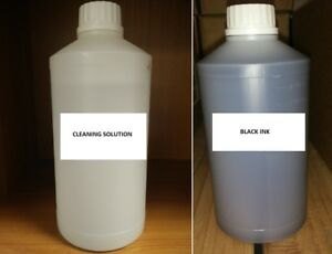 Refill Black Sublimation Ink Sublimation Cleaning Solution For Epson Mutoh