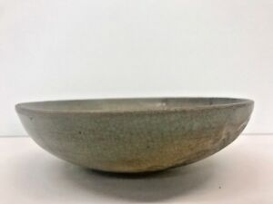 Antique Korean Joseon Dynasty Glazed Ceramic Bowl