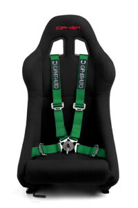 Cipher Auto Racing Harness Set green 4 Point 2 W Camlock Quick Release Pair