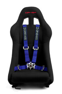 Cipher Auto Racing Harness Set blue 4 Point 2 W Camlock Quick Release Pair