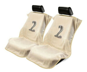 Seat Armour 2 Piece Front Car Seat Covers For Mustang Cobra Tan Terry Cloth