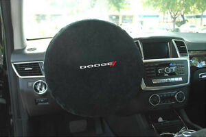 Seat Armour Black Steering Wheel Cover W Dodge Embroidery Swa100dodb