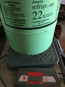 Freon R 22 Refrigerant 30lbs Cylinder Can freon Weighs 23 35 Pounds Arosol 20171