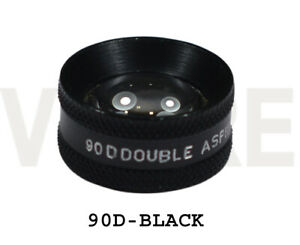 Double Aspheric Lens 90d Ophthalmic 90d Diagnostic Lens Indian Black With Case
