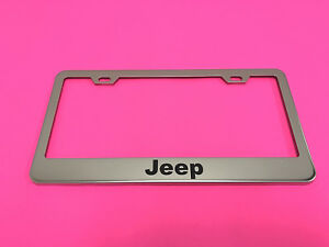 Jeepstyle Stainless Steel Chrome Metal License Plate Frame W Screw Caps