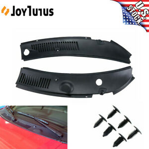2pcs Windshield Wiper Cowl Vent Grille Panel Hood For 1999 2004 Ford Mustang
