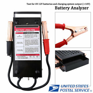 6v12v 100amp Car Van Auto Battery Tester Load Drop Charging System Analyzer Tool