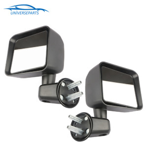 1 Pair New Left Right Side Manual Door Mirror For 07 18 Jeep Wrangler Texture