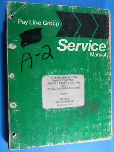 Pay Line Group International 280a Backhoe Tractor Service Repair Manual Sm 280a