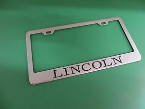 1pc Lincoln Stainless Steel License Plate Frame