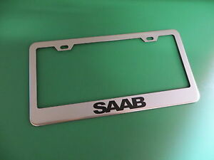 1pc Saab Stainless Steel License Plate Frame